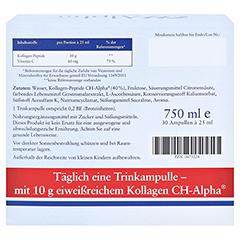 CH Alpha Trinkampullen 30 Stück - Rückseite