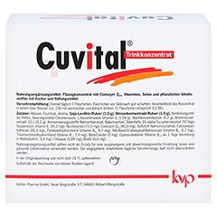 CUVITAL Trinkkonzentrat 25x25 Milliliter - Rückseite