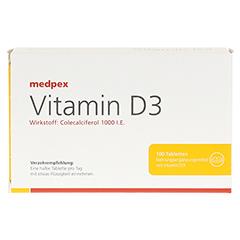 medpex Vitamin D3 100 Stück - Vorderseite