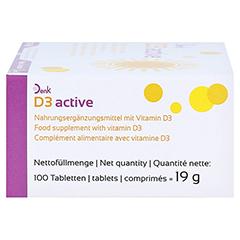 D3 ACTIVE Denk Tabletten 100 Stück - Rechte Seite