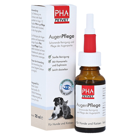 PHA AugenPflege Tropfen f.Hunde/Katzen 20 Milliliter