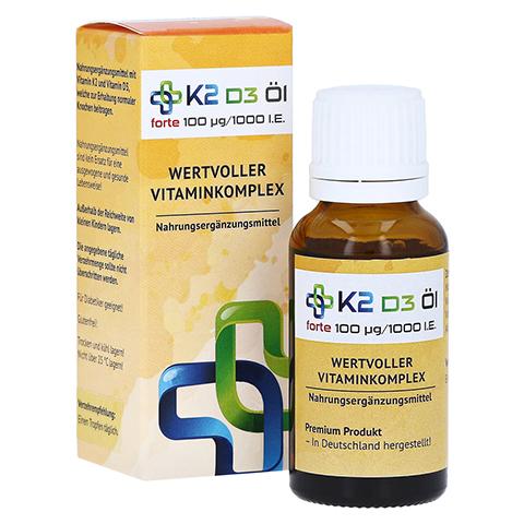 K2 D3 Öl forte 100 µg/1000 I.E. 20 Milliliter