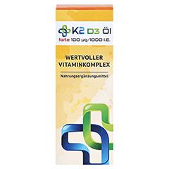 K2 D3 Öl forte 100 µg/1000 I.E. 20 Milliliter - Vorderseite