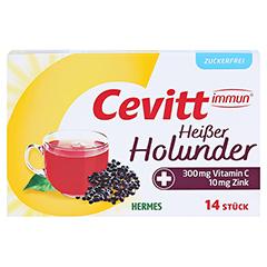 CEVITT immun heißer Holunder zuckerfrei Granulat 14 Stück - Vorderseite