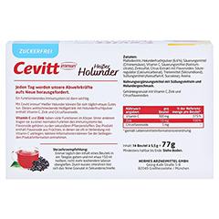 CEVITT immun heißer Holunder zuckerfrei Granulat 14 Stück - Rückseite