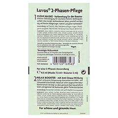 LUVOS Heilerde Relax Booster&Clean Maske 2+7,5ml 1 Packung - Rückseite