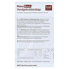 BORT ManuBasic Bandage rechts XL schwarz 1 Stück - Rückseite