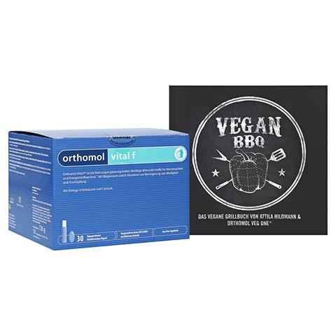 ORTHOMOL Vital F Trinkfläschchen + gratis Kochbuch Vegan BBQ Orthomol 30 Stück