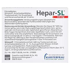 Hepar-SL 640mg 20 Stück - Rückseite