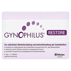 GYNOPHILUS restore Vaginaltabletten 2 Stück - Vorderseite