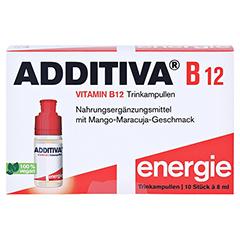 ADDITIVA Vitamin B12 Trinkampullen 10x8 Milliliter - Vorderseite