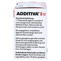 ADDITIVA Vitamin B12 Trinkampullen 10x8 Milliliter - Linke Seite