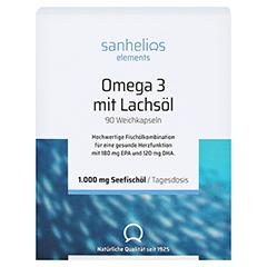SANHELIOS Omega-3 mit Lachsöl Kapseln 80 Stück - Vorderseite