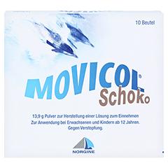 MOVICOL Schoko Plv.z.Her.e.Lsg.z.Einnehmen 10 Stück - Vorderseite