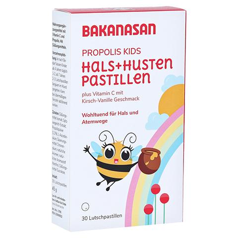 BAKANASAN Propolis Hals- und Husten Pastillen Kids 30 Stück