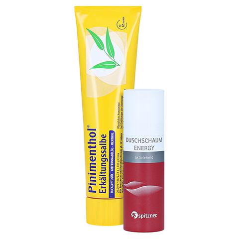 Pinimenthol Erkältungssalbe + gratis Spitzner Duschschaum Energy 100 Gramm N3