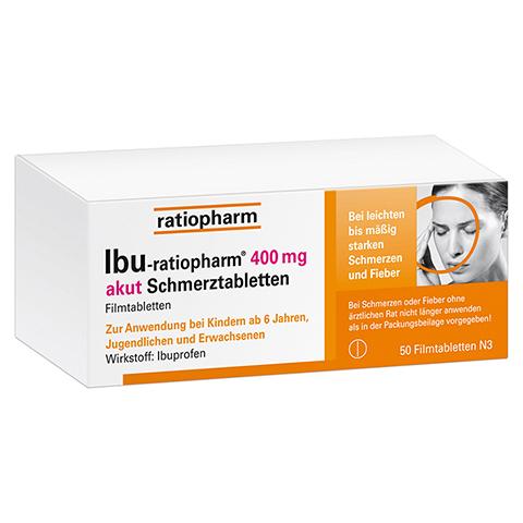 IBU-ratiopharm 400 akut Schmerztabletten 50 Stück N3