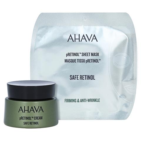 AHAVA Safe pRetinol Cream + gratis Ahava Safe pRetinol Sheet Mask 50 Milliliter
