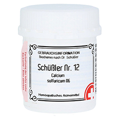 SCHÜSSLER Nr.12 Calcium sulfuricum D 6 Tabletten 400 Stück
