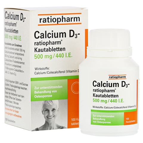 Calcium D3-ratiopharm 500mg/440I.E. 100 Stück
