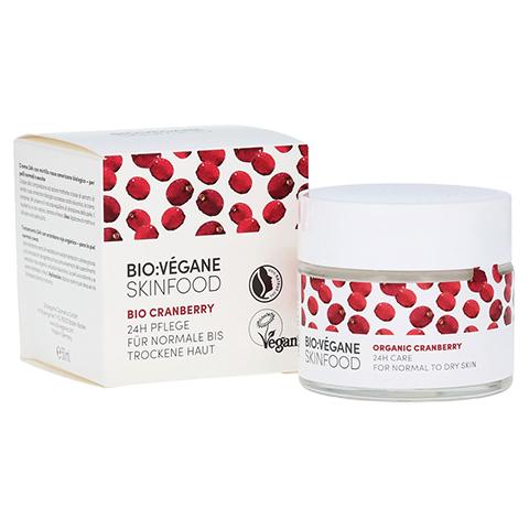 BIO VEGANE Moisture Cranberry 24 h Pflege Creme 50 Milliliter