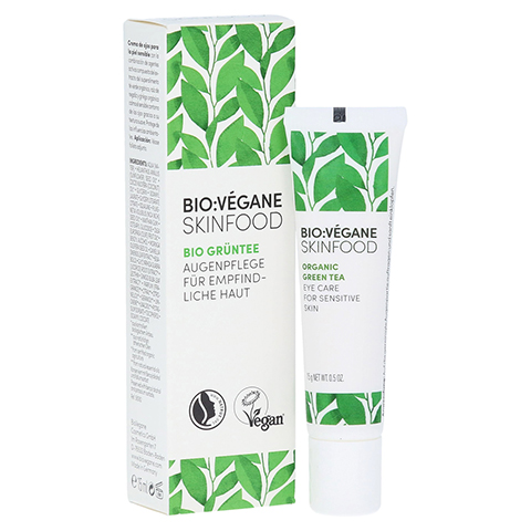 BIO VEGANE Sensitive green Tea Augenpflege Creme 15 Milliliter