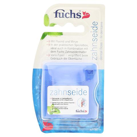 FUCHS Zahnseidenbox gewachst m.Mint+Fluorid 50 Meter