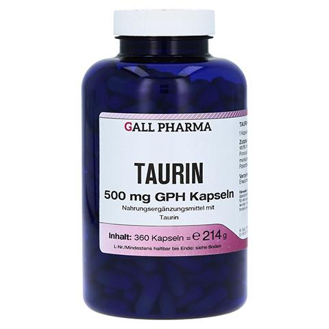 TAURIN 500 mg GPH Kapseln 360 Stück
