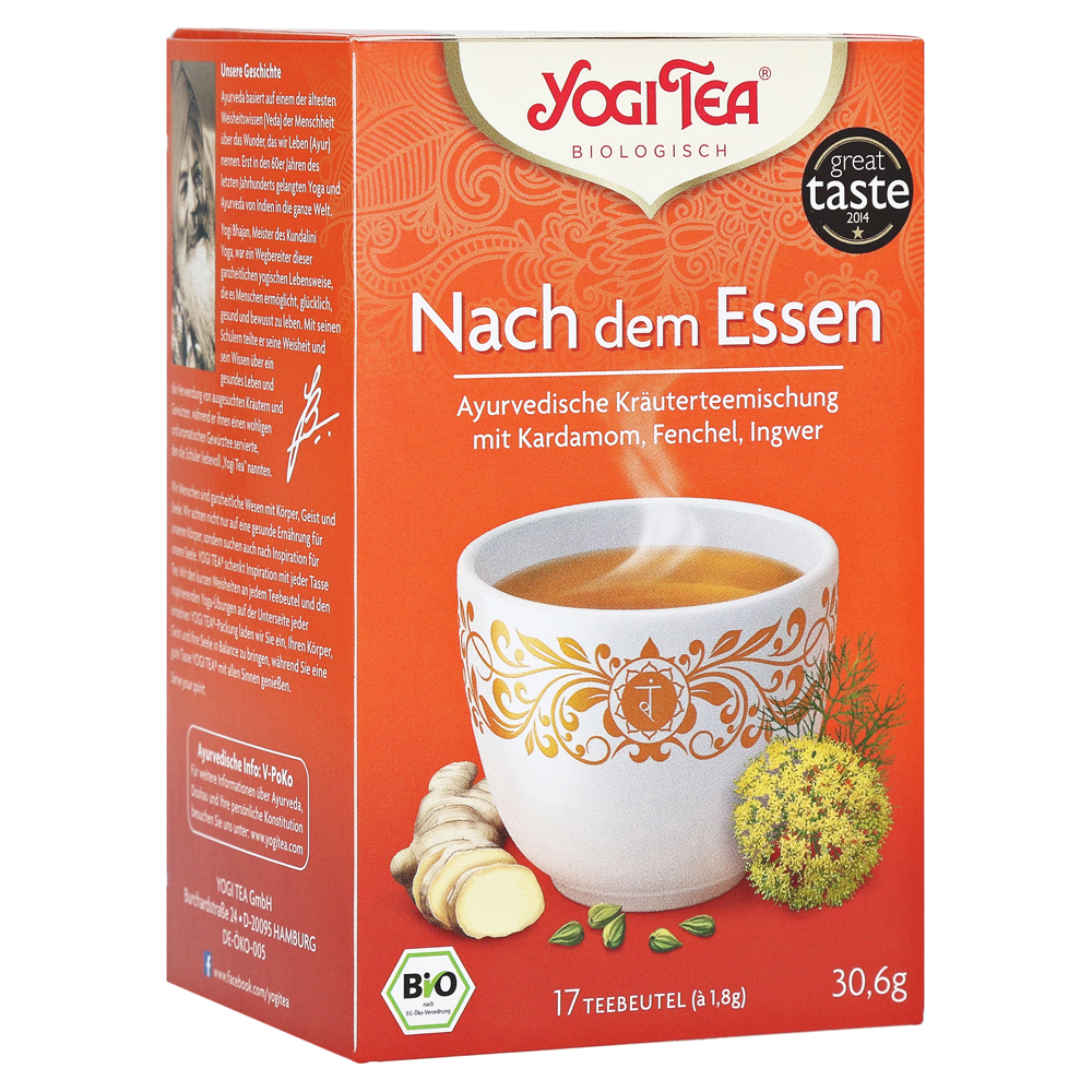 yogi tea nach dem essen bio filterbeutel 17x1 8 gramm. Black Bedroom Furniture Sets. Home Design Ideas