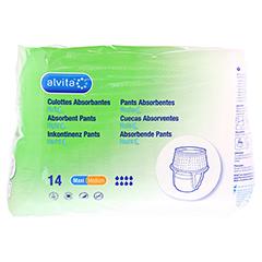 ALVITA Inkontinenz Pants maxi medium Nacht 14 Stück - Vorderseite
