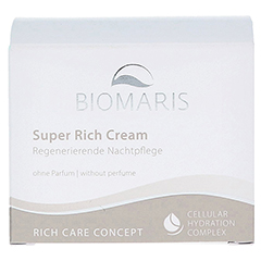 BIOMARIS super rich cream ohne Parfum 50 Milliliter - Vorderseite
