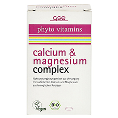 CALCIUM & MAGNESIUM complex Bio Tabletten 60 Stück - Vorderseite