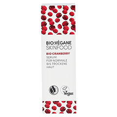 BIO VEGANE Moisture Cranberry Serum 30 Milliliter - Vorderseite