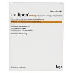 UNILIPON 600 Infusionslösungskonzentrat 1x5 Stück N1 - Vorderseite