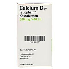 Calcium D3-ratiopharm 500mg/440I.E. 100 Stück - Linke Seite