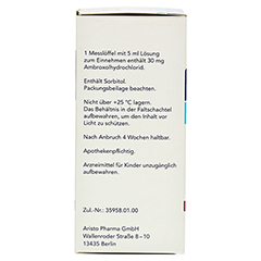 Ambroxol Aristo Hustensaft 30mg/5ml 100 Milliliter N1 - Linke Seite