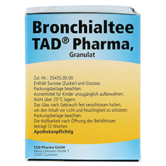 Bronchialtee TAD Pharma 50 Gramm - Linke Seite