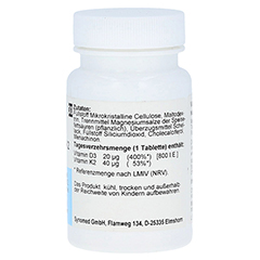 VITAMIN D3 plus K2 Tabletten 30 Stück - Linke Seite
