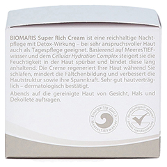 BIOMARIS super rich cream ohne Parfum 50 Milliliter - Linke Seite
