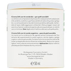 BIO VEGANE Sensitive green Tea 24 h Pflege Creme 50 Milliliter - Linke Seite