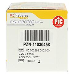 INSUPEN Pen Nadel extrem 33 G 4 mm 100 Stück - Rechte Seite