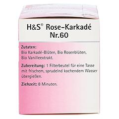 H&S Bio Rose-Karkade Aromatherapie Filterbeutel 20 Stück - Rechte Seite