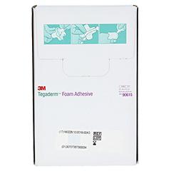 TEGADERM 3M Foam Adhesive 7x7 cm kreuzform 90615 10 Stück - Rückseite