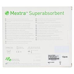 MEXTRA Superabsorbent Verband 10x10 cm 10 Stück - Rückseite