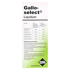 GALLOSELECT Liquidum 500 Milliliter - Rückseite