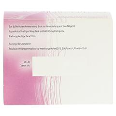 Ciclopirox acis 80mg/g 3 Gramm N1 - Rückseite