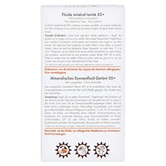 AVENE Mineralisches Sonnenfluid SPF 50+ getönt 40 Milliliter - Rückseite