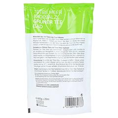 DERMASEL Totes Meer Badesalz+grüner Tee 1 Packung - Rückseite