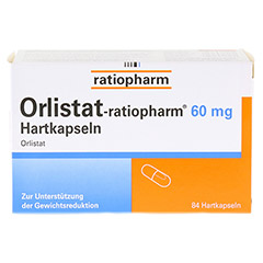 Orlistat-ratiopharm 60mg 84 Stück - Vorderseite