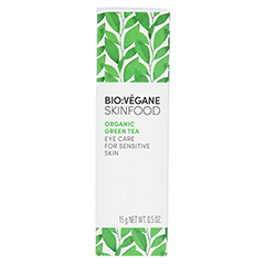 BIO VEGANE Sensitive green Tea Augenpflege Creme 15 Milliliter - Rückseite